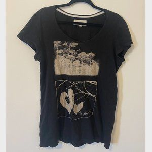 American Eagle Black Indie Scenic T-shirt